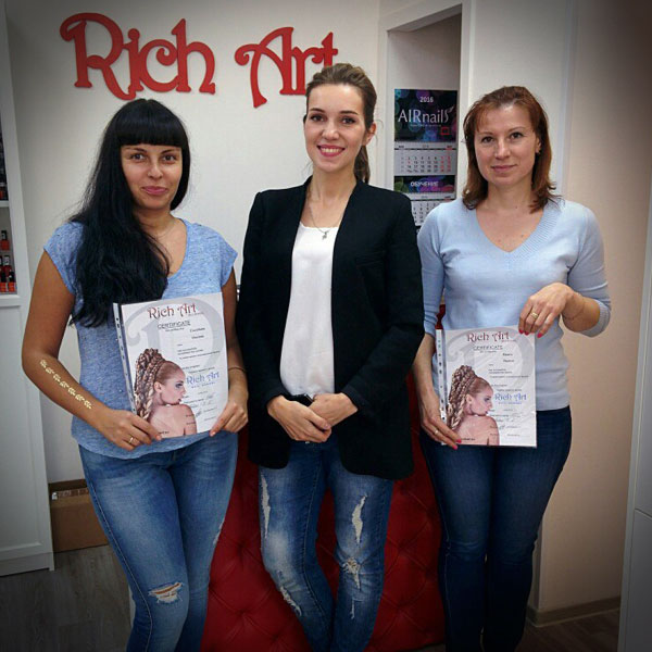 Выпускники школы маникюра Rich Art